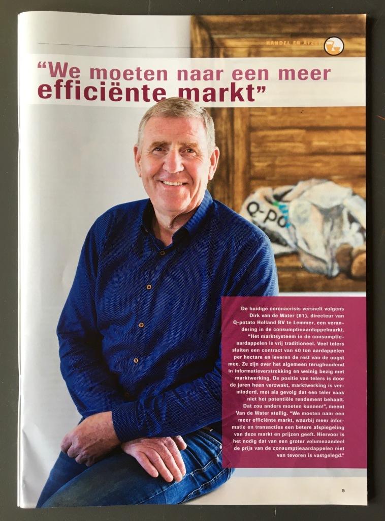 Q-Potato, portretfotografie, vakblad aardappelsector, AardappelWereld, artikel